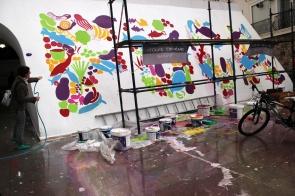 Atolye deneme-Slow food festival grafiti 5