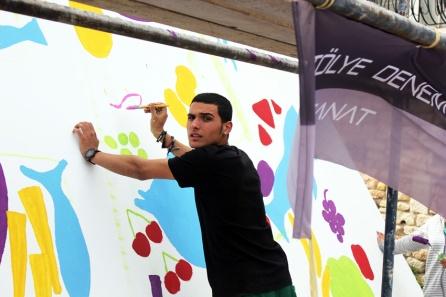 Atolye deneme-Slow food festival grafiti 8