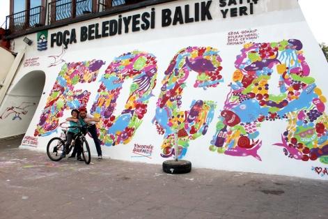 Atolye deneme-Slow food festival grafiti